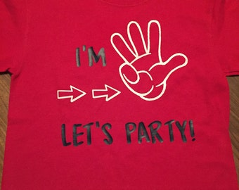 Birthday Let's Party tshirt