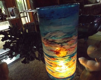 Handpainted Candle Holders