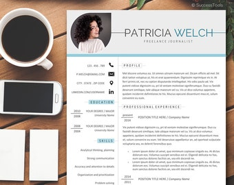 Resume Template for Professionals, Resume with Photo, Photo Resume, Resume Design, Teacher Resume