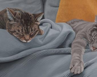 Portrait personnalisé de Pet - plusieurs sujets + fond, 12 x 24
