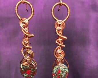 Copper Coils Earrings