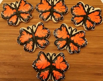 Monarch Butterfly Cookies (1 dozen)