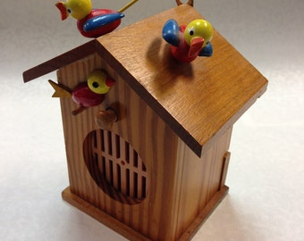 Musical Toy Birdhouse Made in France c.1940's