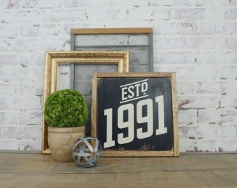 Established Year Sign, Rustic Home Decor, Personalized Decor, Customized  Signs, Personalized Gifts