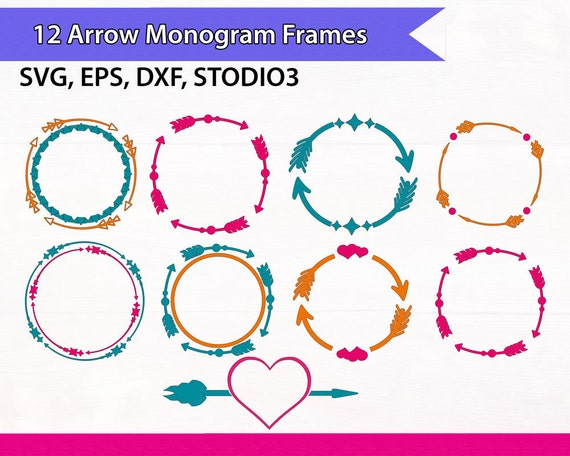 Arrow Circle Frame SVG files for Silhouette and Cricut