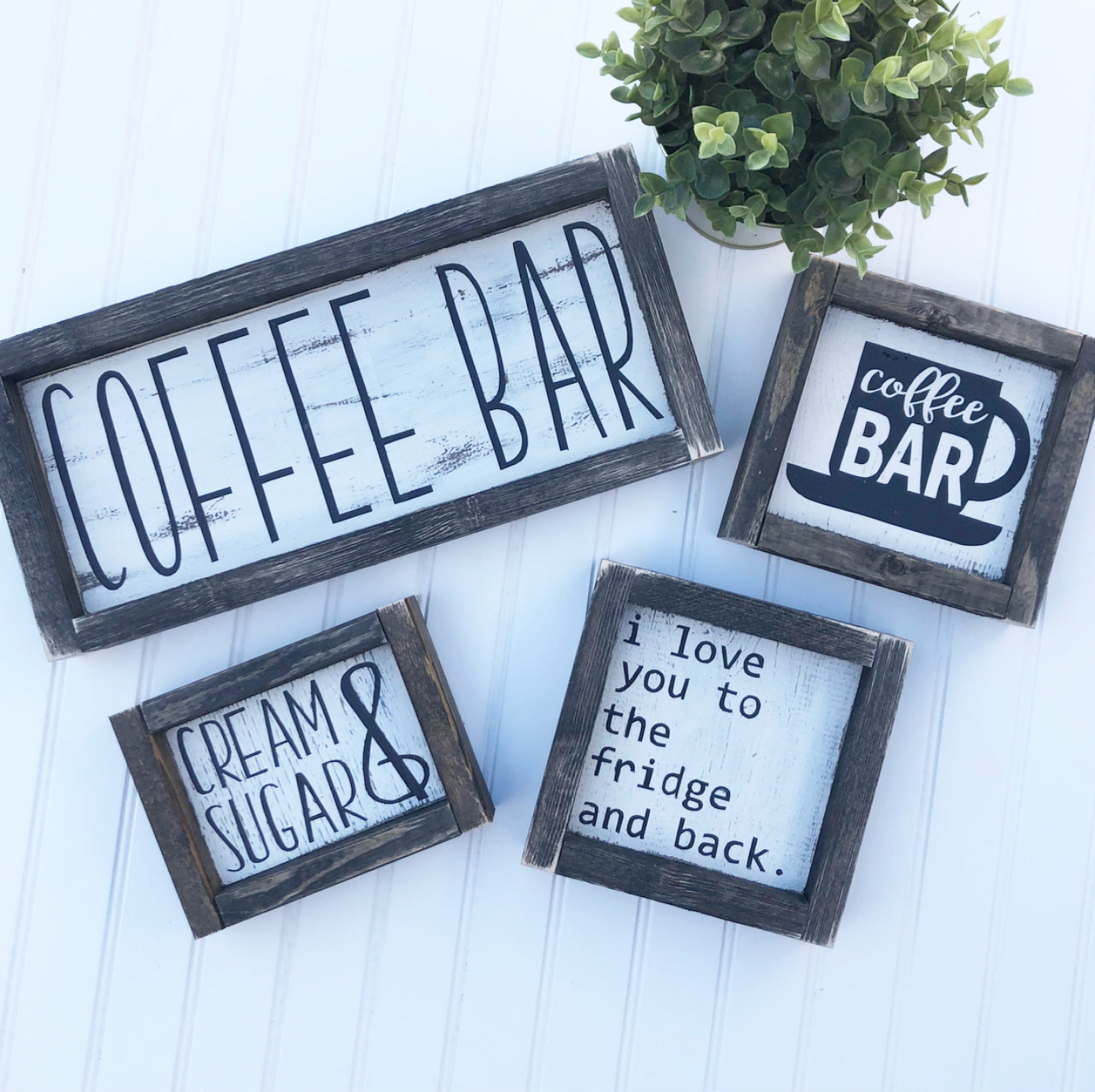Rustic Hand Painted Coffee Bar Signs Kitchen Decor Coffee