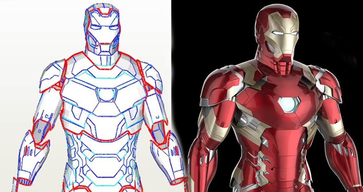 Iron man mark 46 diy foam template iron man armor patterns for Iron man foam armor templates