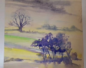 A delightful original watercolour signed and dated Rampton 1972