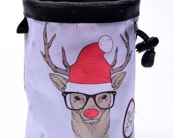 Hipster Reindeer Holiday, Climbing Chalk Bag