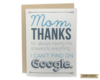 Mom Birthday Card, Funny Mother's Day Card, Happy Birthday, Funny Birthday Card for Mom