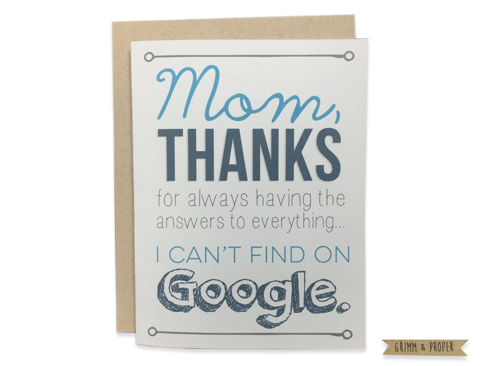 Mom birthday card funny mothers day card happy zoom bookmarktalkfo Image collections