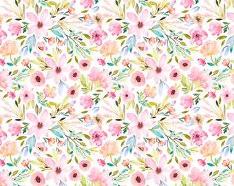 Pink Floral Lovey. Floral Lovey. Cloud Blanket. Baby Blanket. Lovey. Mini Baby Blanket. Security Blanket. Lovie. Minky Lovey.