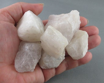 3 Raw White Quartz Crystals - Snow Quartz, Healing Crystals & Stones, Raw Crystals, Metaphysical Stones, Milky Quartz, Reiki Healing (T197)