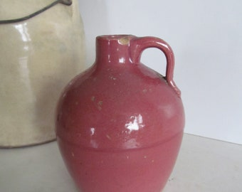 Antique Pink Stoneware Jug Pink Pottery Vase Pink Whisky Jug Women Whisky Drinkers Gift Idea antique liquor Jug Photo Prop 1800s Pottery