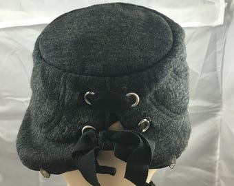 1950's felt cap with rhinestones