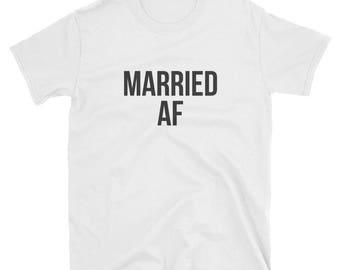Married af short sleeve tee