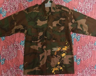 Army Fatigue Jacket/Army Jacket Shirt /With Patches /Brand New Real Army Shirt Jacket