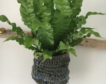 Crochet recycled Plant holder / Plant bag / Plant pouch / Storage bag