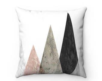 Rose Peaks Decorative Throw Pillow (4 Sizes)