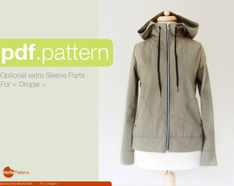 PDF sewing pattern Optional Extra Sleeve Pattern for <Dropje> Vest