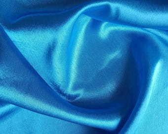 1 meter of fabric satin turquoise width 55 cm
