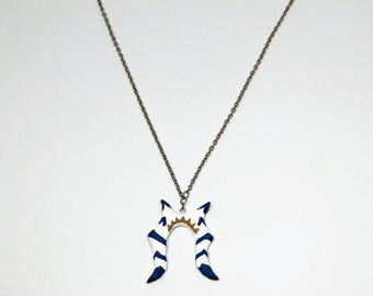 Inspired Ahsoka Tano Necklace, Geek Jewelry