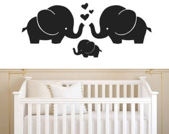 Little Peanut Elephant Wall Decal, Choose From Many Colours & Sizes