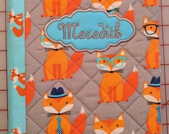 Personalized Dapper Fox Composition Book Cover