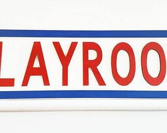 Street Sign, Playroom Sign, Wooden Sign, Kid's Room, Nursery, Playroom, Kid's Sign, Large Sign, Playroom Decor, Playroom Wall Art,