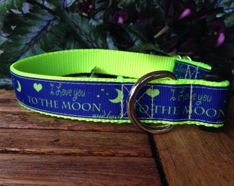 Love you to the Moon Dog Collar