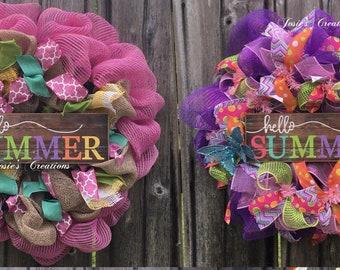 Summer welcome wreaths