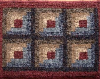 Beginners Log Cabin Rug Hooking Pattern