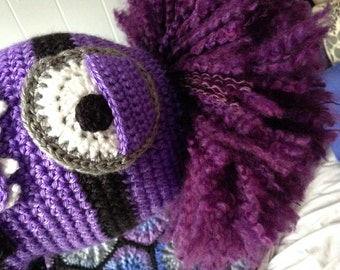 ADD-ON Extra BIG Crazy Hair for Purple Evil Minion Hat - check out with hat order-