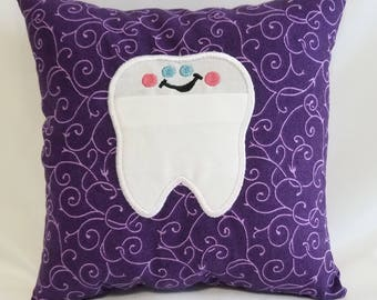 Purple Patterened Tooth Fairy Pillow