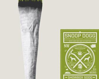 Snoop Dogg Snoop Lion gigposter Showbox Sodo Seattle Washington