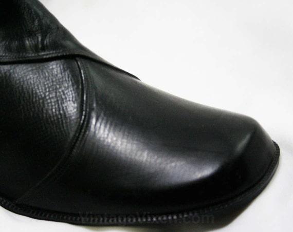Authentic Lined 6 6 1960s Rain Buckle Vinyl 60s Winter Faux Deadstock Early Black Size Fleece 43246 Boots Waterproof Dears Uvtqq