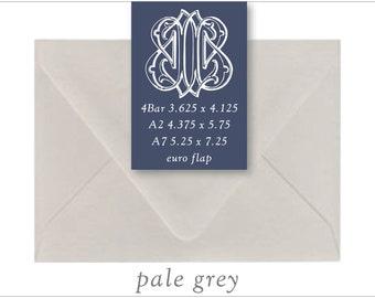 Pale Grey   10 Blank Euro Envelopes   A7 • A2 • RSVP