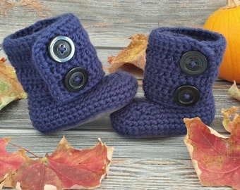 Baby Boy Boots - Newborn Baby Boots - Infant Baby Boots - Infant Winter Boots - Crochet Boy Boots - Baby Girl Boots - Baby Shower Gift