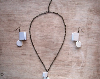 Miniature Book Jewelry Set