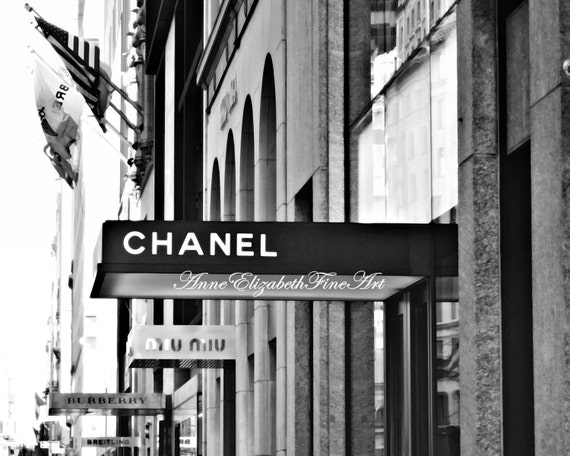 Nyc madison ave coco chanel chanel print fashion