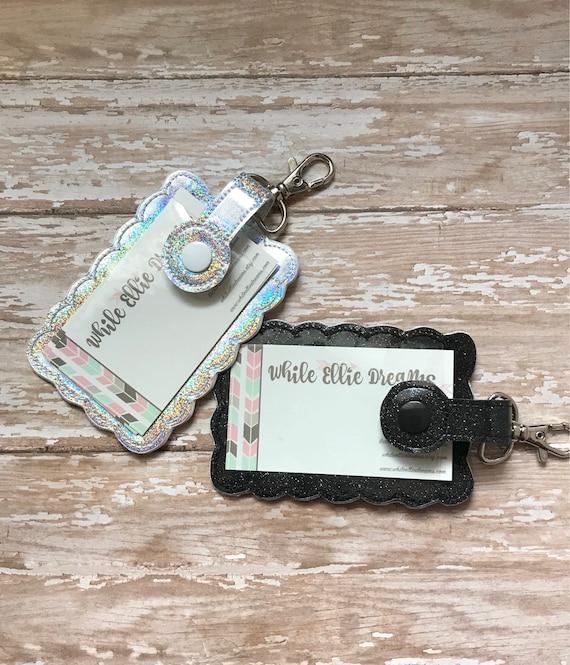 Business Card Holder Card Holder Keychain Id Holder