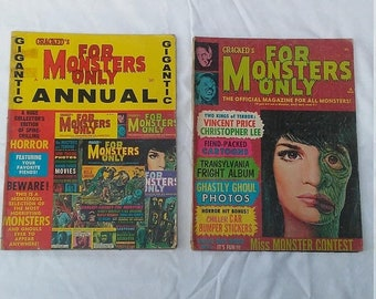 Spring Sale 2 Vintage For Monster's Only Magazine from Large Collection