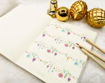 Holiday Bunting Washi Tape - Planner, Journal, Craft, Scrapbooking, Decoration