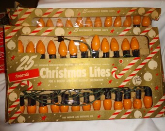 Vintage outdoor string lights etsy christmas lights vintage outdoor orange color aloadofball Images