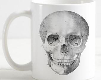 Anatomical Skull Coffee Mug | Vintage Medical Illustration | Anatomy Horror | Sublimated 11 oz Cup
