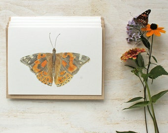 Painted Lady Butterfly Watercolor Cards