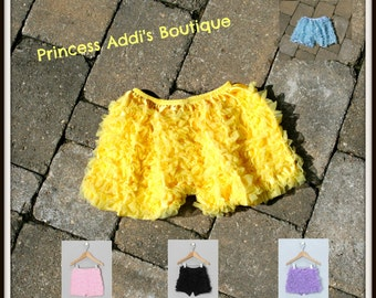 Ruffled Baby, Toddler and Girl's Chiffon Dance Booty Shorts or Bloomers- NEW MARKDOWN- SALE!!!