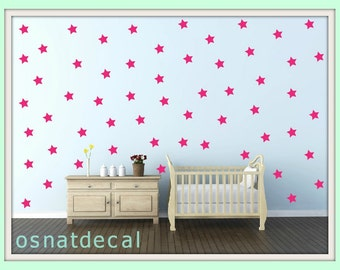 FREE SHIPPING Wall Decal PINK Stars, A Large Quantity 170. Wall Sticker .Homedecor.Nursery. Kids Room