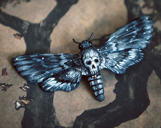 Skull and crossbones hair jewelry black