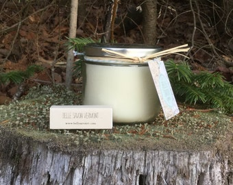 Handpoured Natural Soy Candle Jar 12 oz-Candle of the Month-Belle Savon Vermont